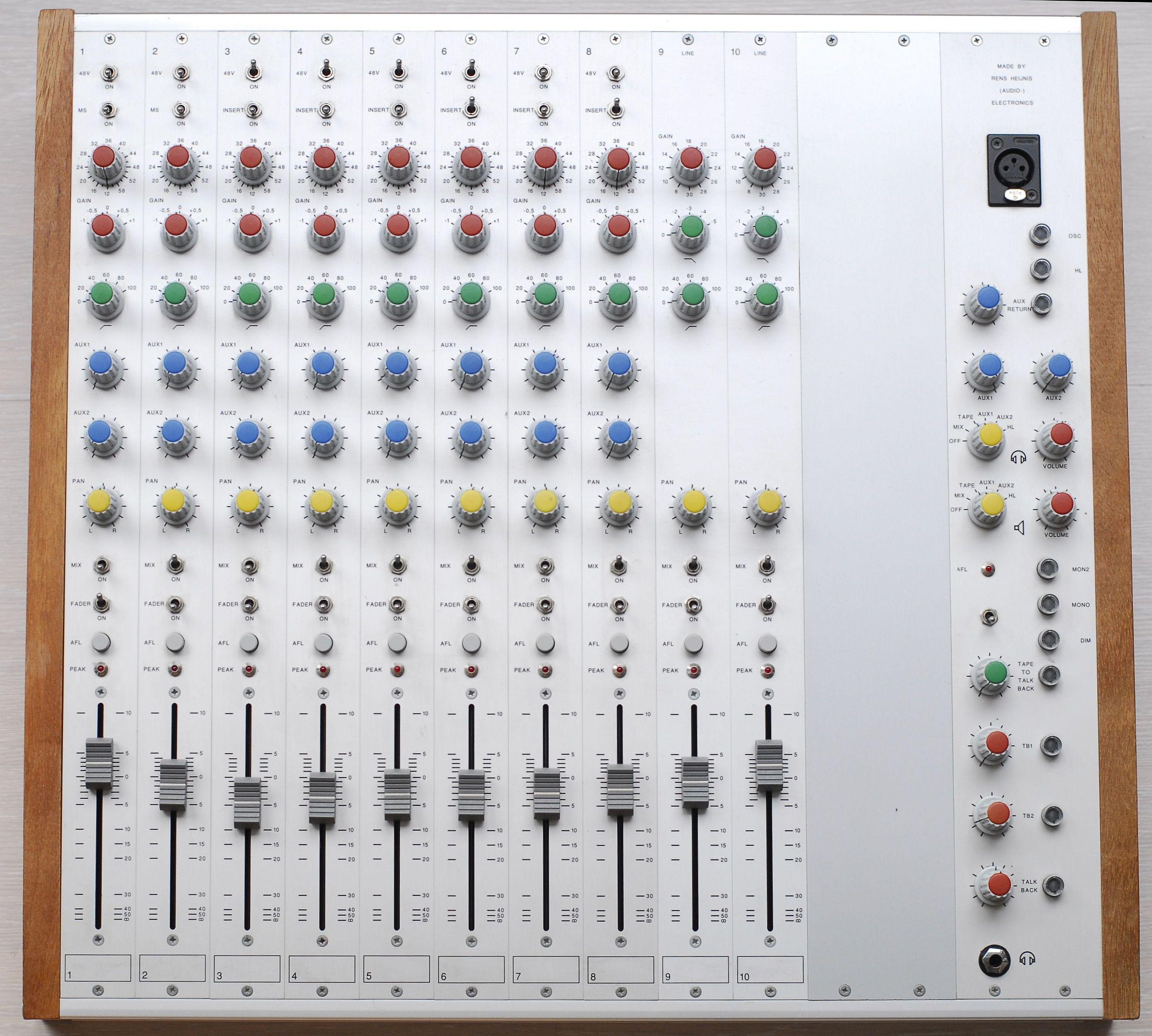 Rens Heijnis Custom Built Audio Equipment 5 Channel Portable Mixer 10 Made